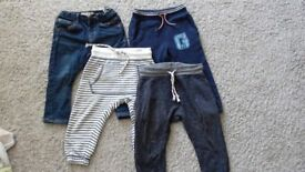 bundles of boys trousers 12-24 mths