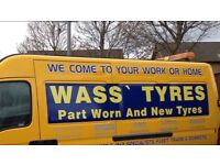 MOBILE TYRES FITTING SERVICE TO YOUR HOME, PART WORN AND NEW TYRES ALL SIZES AVAILABLE, PARTWORN