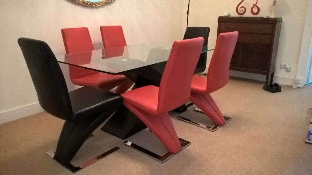 Glass Dining Table And 6 Chairs In New Town Edinburgh Gumtree