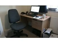 Office Desk & Office / Operator Chair for sale - Good Condition - £30 for the lot
