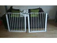 2x lindam pressure fit stair gates