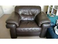 Comfortable leather armchair