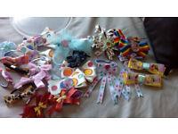 headbands, bobles, slides, hair accessories, plain bands