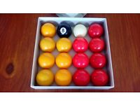 SET OF QUALITY ARAMITH POOL BALLS