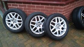"""16"""" BBS Hairpin Alloys, Volkswagen fit 5x100 pcd"""