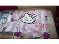 Hello Kitty single duvet cover and pillowcase