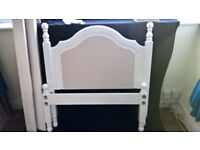 Single bed frame, painted wood