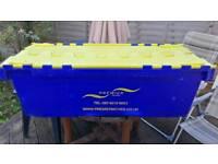Heavy Duty Tote Moving Storage Box 140 L
