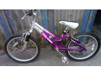 Raleigh Girls Bike Easy to ride smoothe Very liittle use and all great running gear + Helmet