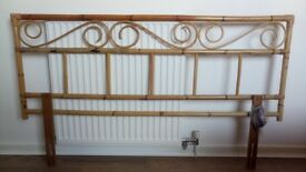 Bamboo double bed headboard