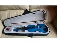 Full blue Violin set