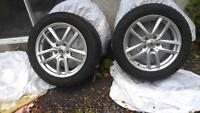 215-55/R17 Winter tires with Mags
