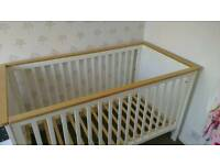 Mothercare Cot Bed plus mattress and bedding