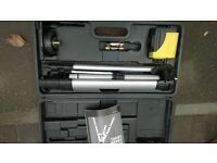 Workzone Cross line laser kit with tripod and in own proected carry box