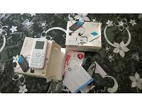 Alcatel OT-S211, White Pink , locked on Virgin , brand new Mobile Phone Classic
