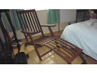 2 steamer adjustable garden steamer lounger chairs hard wood never been wet