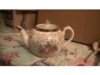Beautiful antique gold foiled teapot
