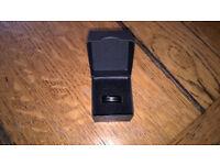Titanium/black hematite ring size o/n