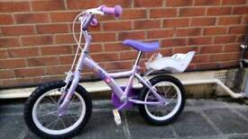 "Girls 14"" first bike"