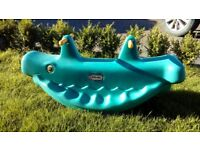 Little Tikes little blue whale SeeSaw, looking for a new home