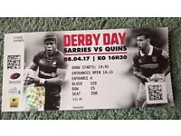 four Rugby tickets for sale