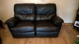 3 seater leather and 2 seater not matching good condition both recliners mark on 2 seater no rips