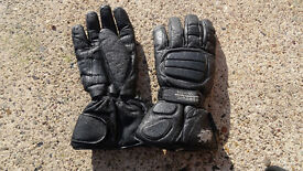 Warm motorcycle leather gloves size XXL bufallo