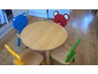 Set of Table and 4 Chairs