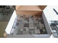 Box of mosaic tiles