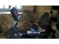 Life Fitness 95R Full Commercial Recumbent Bike with Inspire Console - Good Condition