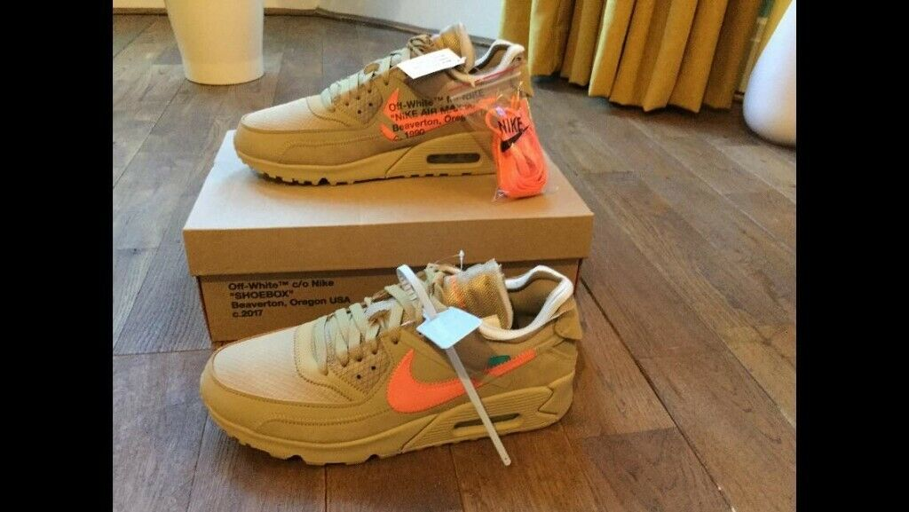 OFF WHITE x Nike Desert Ore and Bright Mango Air Max 90 | in Southside, Glasgow | Gumtree