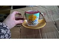 FLORAL TEA CUP AND SAUCER BRAND NEW