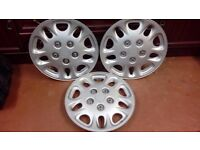 3 X 14 inch SILVER UNIVERSAL FIT WHEEL TRIMS
