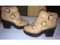 Grey Bohoo boots