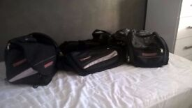 Motorcycle luggage . paniers,tank bag and rear seat bag in excellent condition