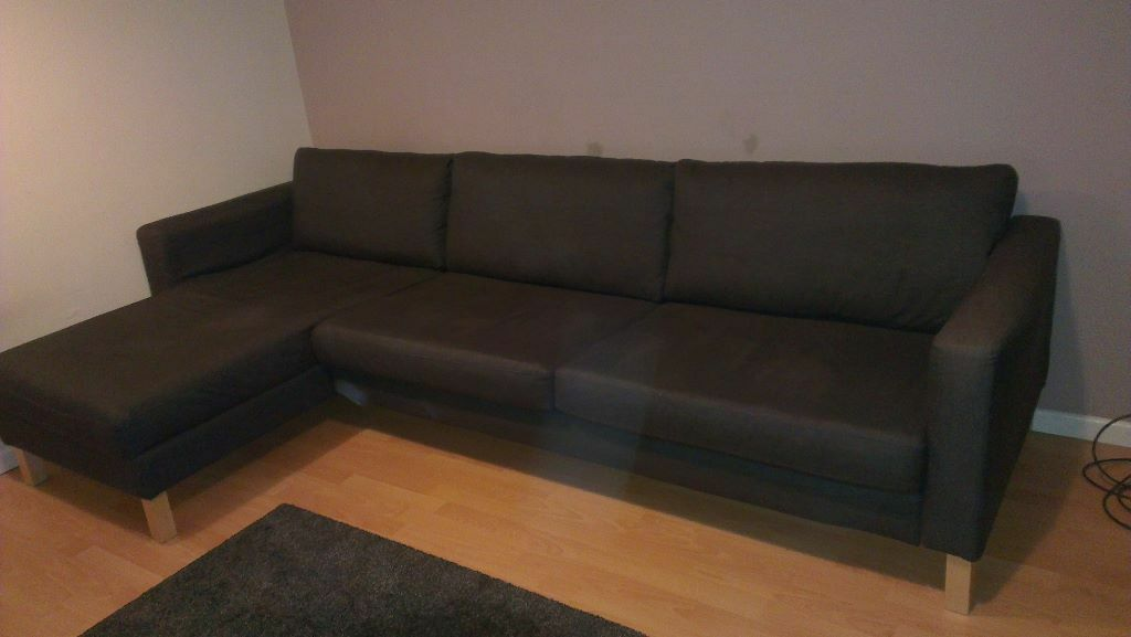 Ikea Karlstad 3 Seater Sofa With Chaise Longue And