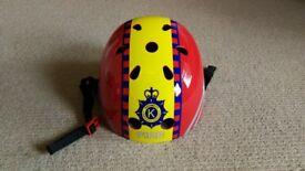 Nearly New Kiddimoto 'Fire' Helmet for Bike / Scooter