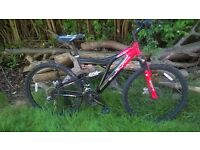 Muddy Fox Stinger MTB Mountain Bike 26in wheels 18 in frame dual disc brakes and suspension