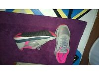 grey and pink nike trainers