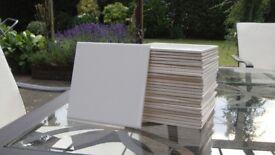 "26 New White 6"" x 6"" inch Square Tiles suit Bathroom Kitchen Toilet Splash back Splashback"