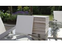 "26 New White 6"" x 6"" inch Square Tiles suit Bathroom Kitchen Toilet Splash back Splashback"