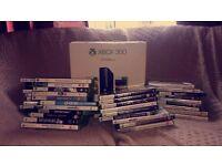 Xbox 360e 250gb black with games.
