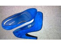 Blue shoes brand new