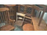furniture job lot of 8 items Antique / Old / Old Charm solid oak restoration delivery avalible
