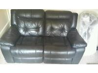 DFS leather 2 seater sofa's with electric recline