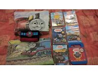 Thomas The Tank Engine 2 x single duvet sets, DVDs and scarf