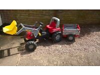 £25 tractor and trailer for upto 6 yrs