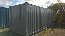 PORTABLE CABIN - 20' x 8' - CHOICE OF TWO - SHIPPING CONTAINER