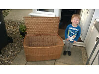 Extra large wicker hamper / storage box / chest