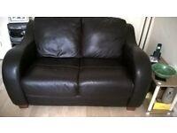 2 seat soft leather sofa.